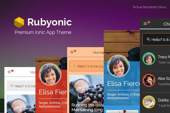 Rubyonic Ionic Premium App Theme