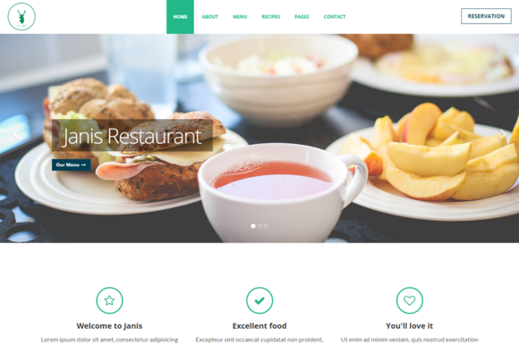 Janis Cafe Restaurant Template