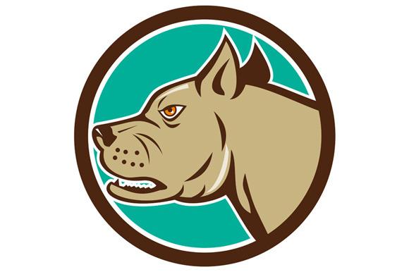 Mastiff Dog Mongrel Head Circle Cart