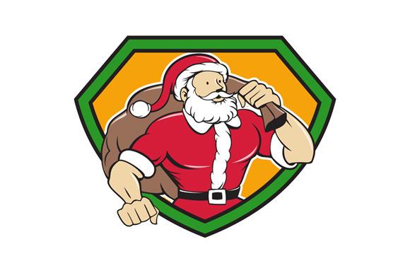 Super Santa Claus Carrying Sack Shie