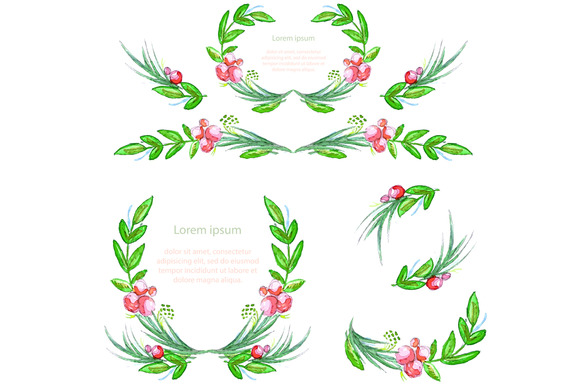 Floral Design Elements Pattern Set