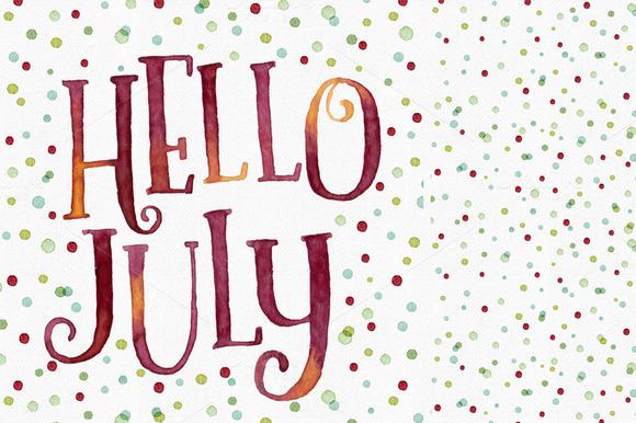 Hello July Dots Pattern