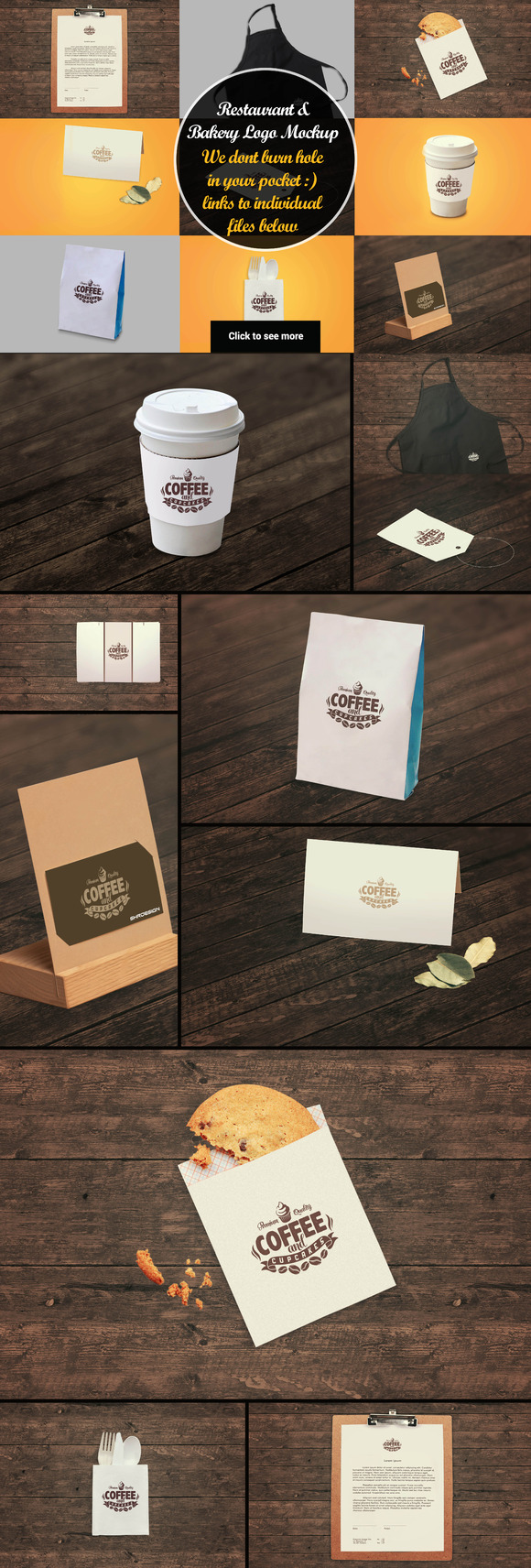 10 Restaurant Mockup Bundle