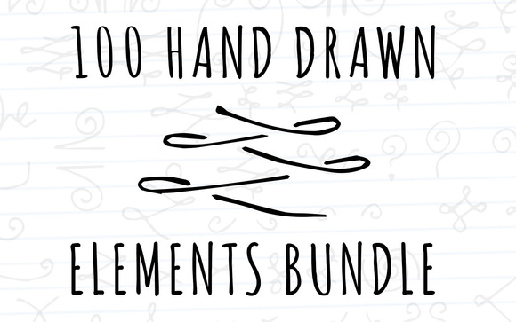 100 Hand Drawn Elements Bundle