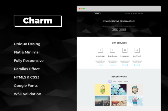 Charm Responsive One Page Template