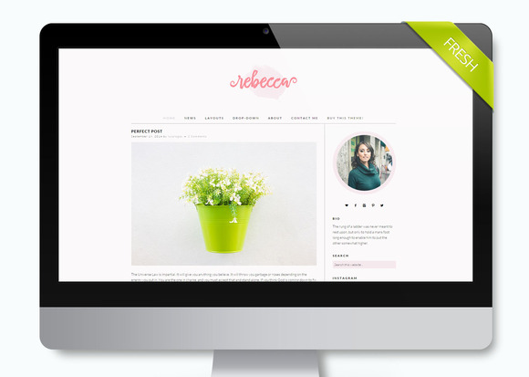 Simple Wordpress Theme Rebecca