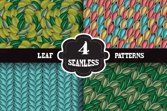 Leaf Seamless Patterns