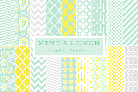 40% Off Mint Lemon Backgrounds