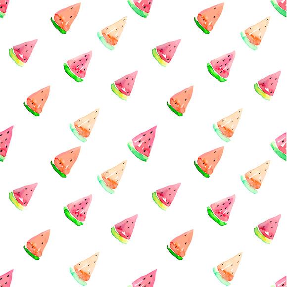 Seamless Watermelon Vector Pattern