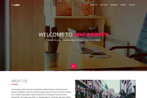 Levi Agency Portfolio Template