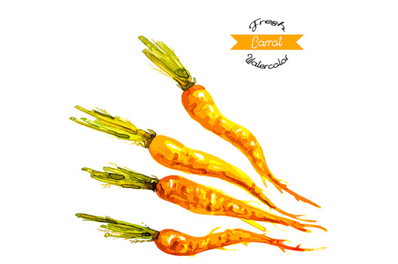 Organic Carrots Seamless Pattern