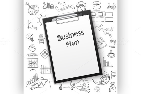 Business Plan On Tablet With Paper A