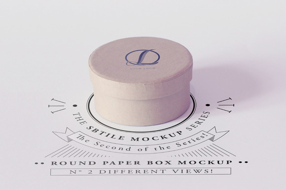 Round Paper Box Mockup