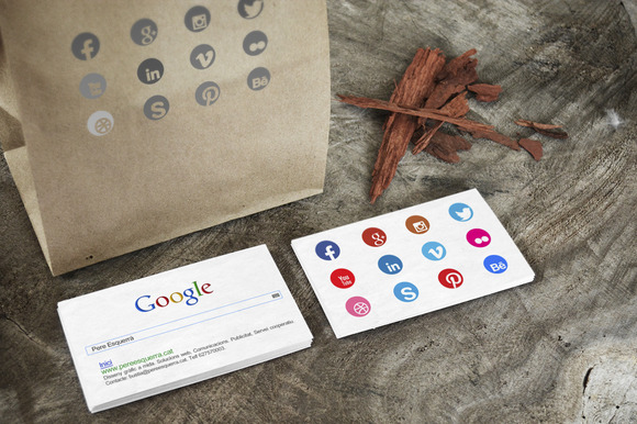 Bussines Card Search Bar 12 Icons