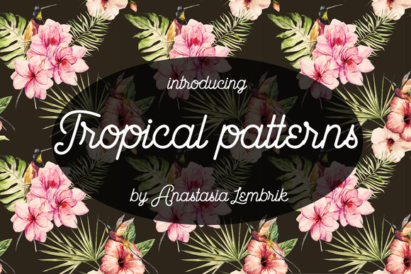 Watercolor Tropical Patterns