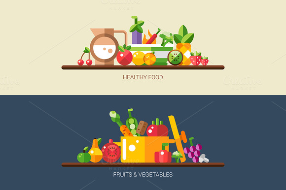 Healthy Food Fruits Vegetables