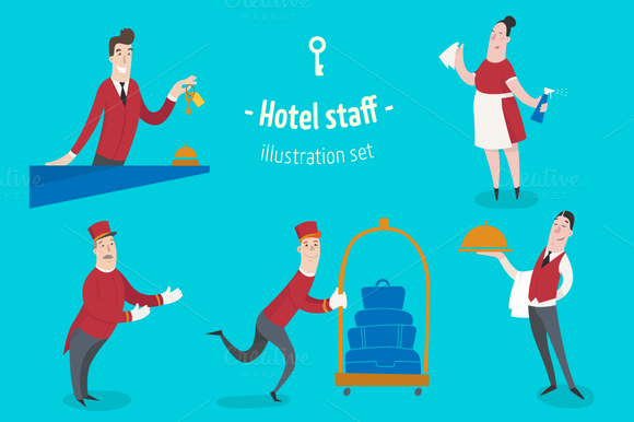 Hotel Staff 6 Characters