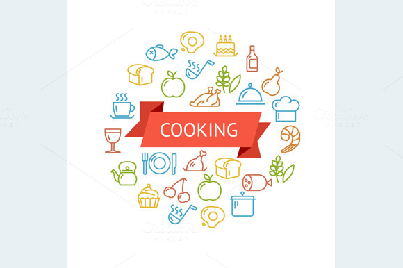 Vector Cooking Concept Outline