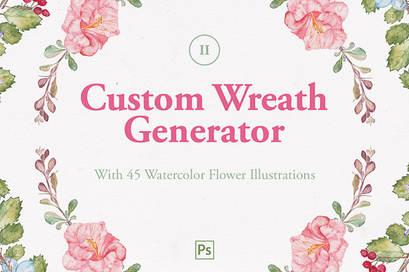 Custom Wreath Generator 2 Flowers