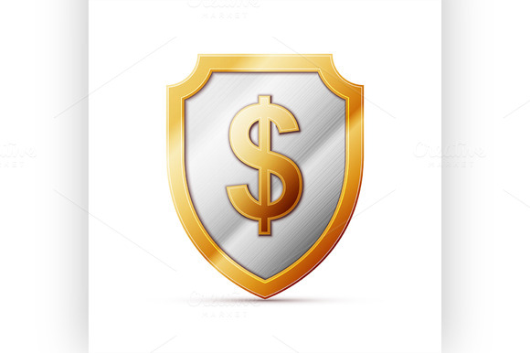 Shield With Dollar Sign