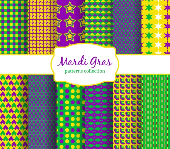 Mardi Gras Carnival Patterns Collect