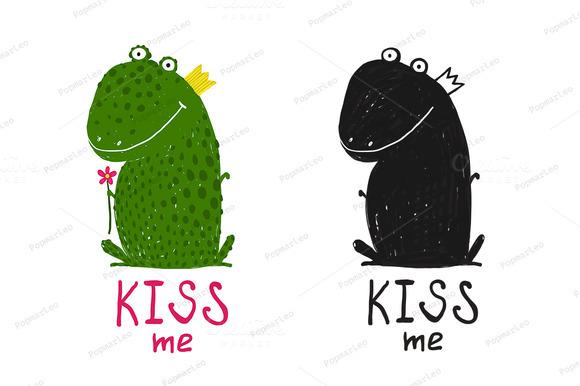 Fun Green Magic Frog Asking For Kiss