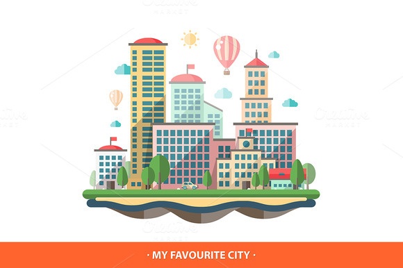 Favourite City Illustration
