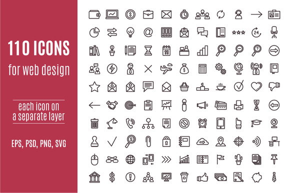 110 Business Icons For Web Design