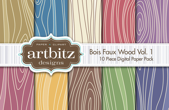 Bois V1 Faux Wood Digital Paper
