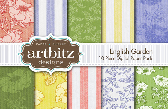 English Garden Digital Paper