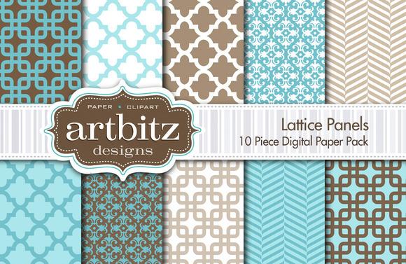 Lattice Panels Digital Paper