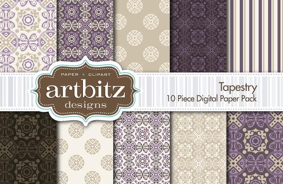 Tapestry Damask Digital Paper
