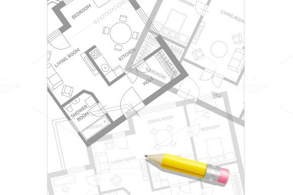 Vector Furniture Architect Plan