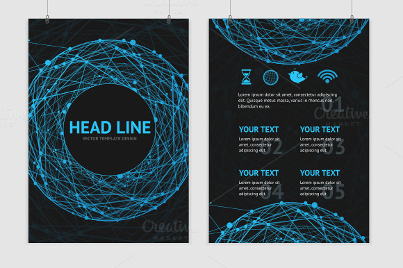 Vector Abstract Sphere Brochure
