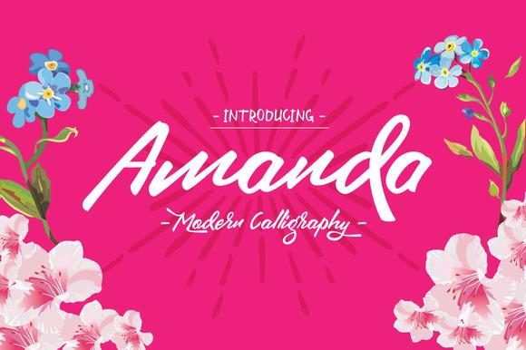 Amanda Typeface