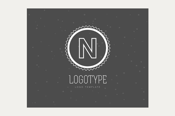 Abstract Vector Vintage Logo Design