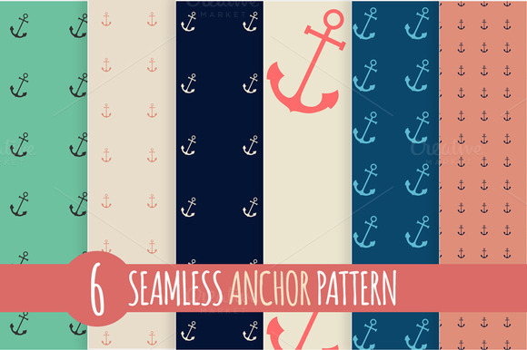 Anchor Seamless Pattern Set