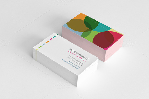 Simple Minimal Colored Business Card