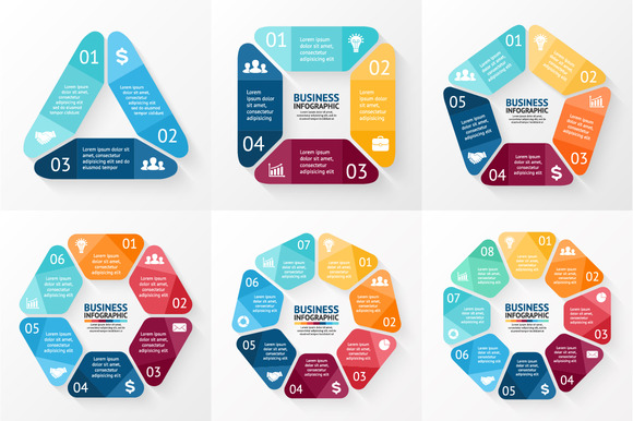6 Diagrams For Business Presentation