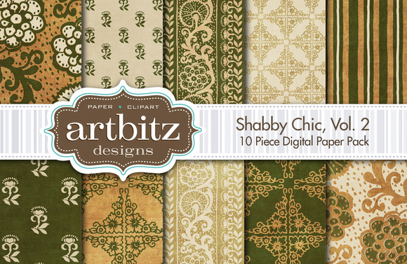 Shabby Chic V2 Digital Paper