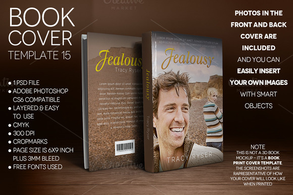 Book Cover Print Template 15
