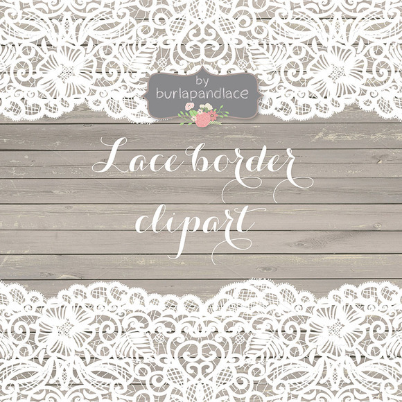 Vector Lace Border Clipart