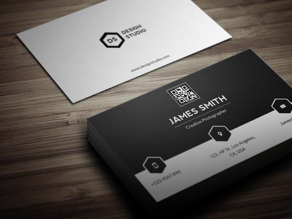 Black White Minimal Business Card