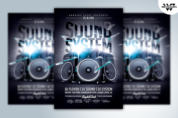 SOUND SYSTEM Flyer Template
