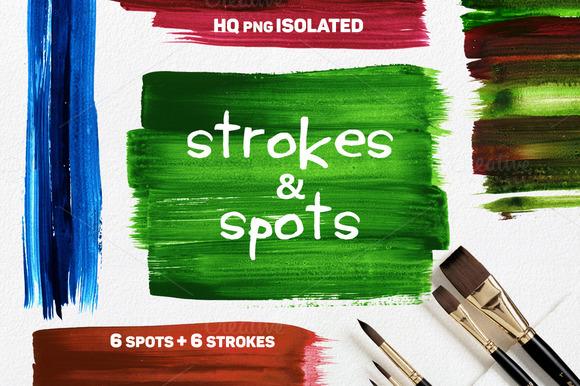 Brush Spots Strokes Isolated