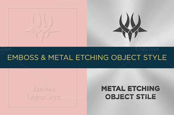 Emboss Metal Etching Object Style