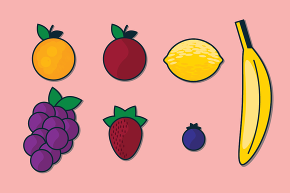 Graphic Fruit Vector Illustrations