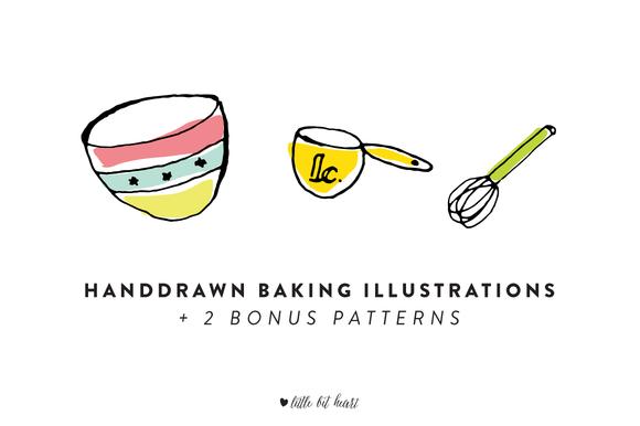 15 Handdrawn Baking Illustrations