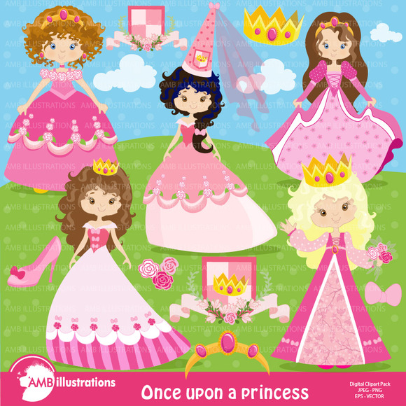 Princess In Pink Clipart 892