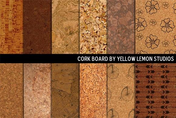 Decorative Cork Board Backgrounds